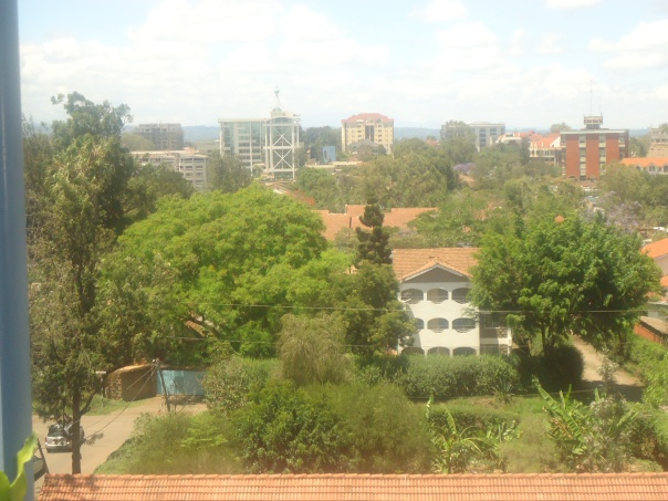 View of Nairobi  from iHub balcony